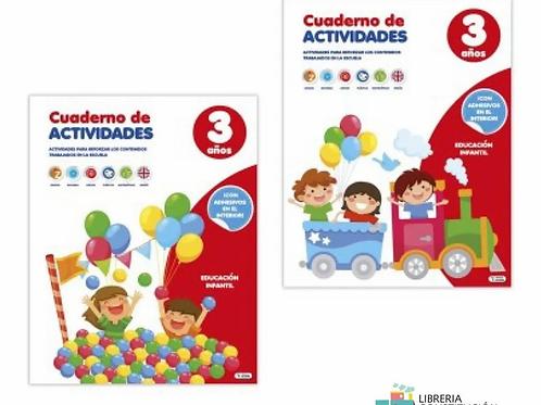 Libros Saldaña didactico con actividades para 3 años x 1 u.