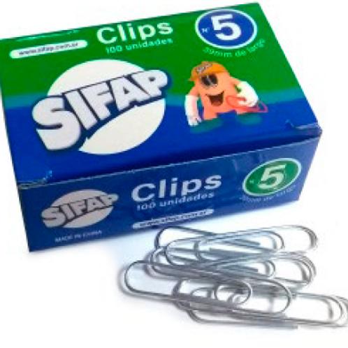 Clips Sifap metal  Nro 5  x 100 u