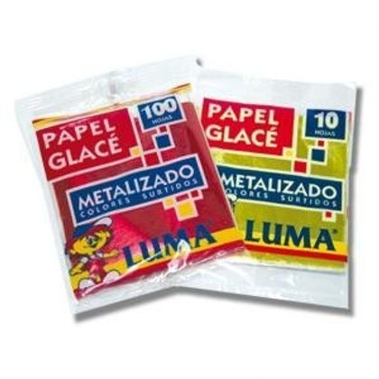 Papel Glace Metalizado  Luma x 10 hojas
