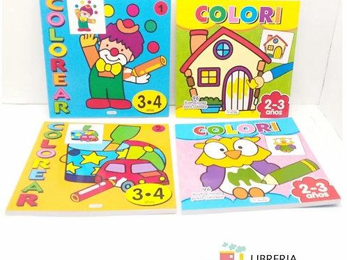 Libro Saldaña colorear para 3 / 4 años 96 dibujos x 1 u.  045/047