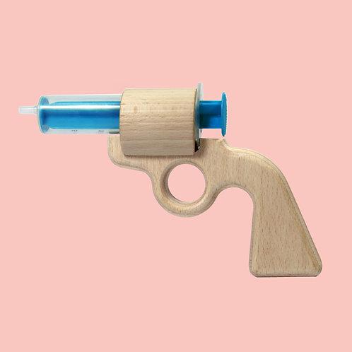 Aqua Joe - die erste Wasserpistole aus Holz!
