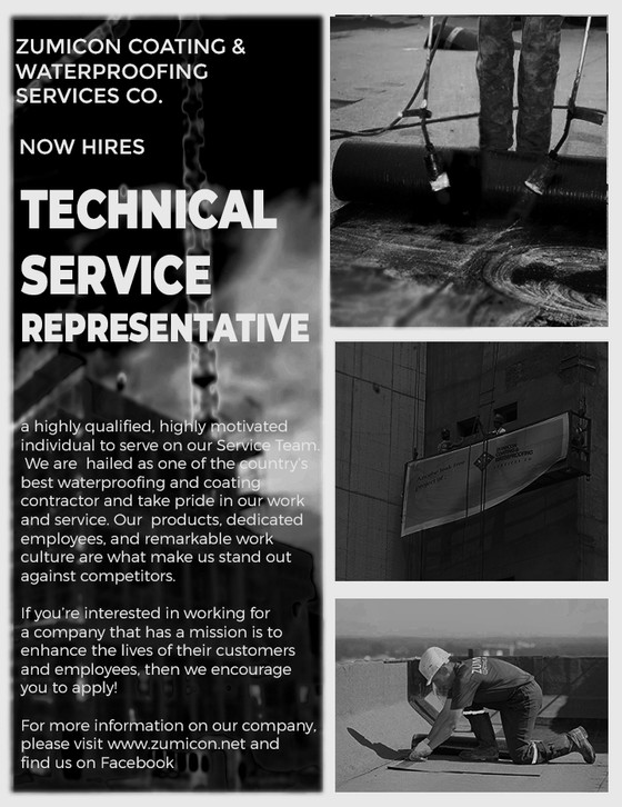 TECHNICAL SALES REPRESENTATIVE -WATERPROOFING