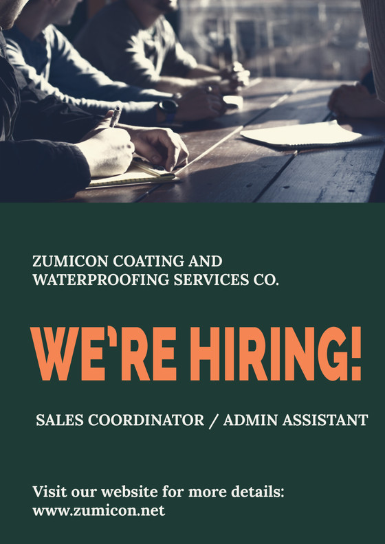 WE ARE HIRING! Sales Coordinator / Admin Assistant