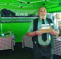 Steve Wright winning the Sir Edward Hardy Trophy for Forestry at @kentcountyshow 2017