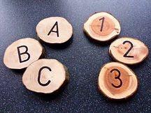 Number and alphabet wood disc