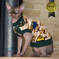 Katzen Kleidung Camouflage