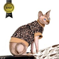Leopard Katzenshirt Katzenpulli