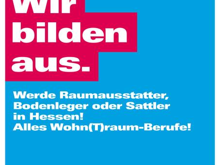 Ausbildungsland Hessen 2021: Raumausstatter, Sattler & Bodenleger