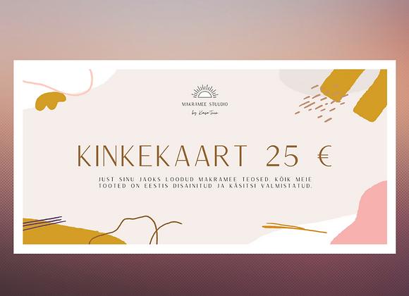 Kinkekaart - Makramee Stuudio, Eesti disain ja käsitöö, kodusisustus