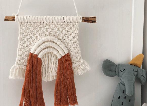 Makramee vikerkaar - lastetoa kaunistus