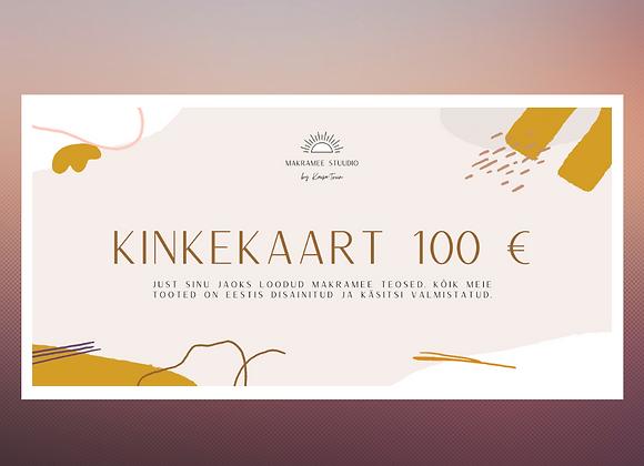Kinkekaart Makramee Stuudio 100 EUR - Eesti disain ja käsitöö, kodusisustus
