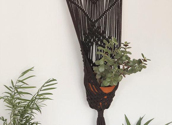 Makramee lillekiik, must