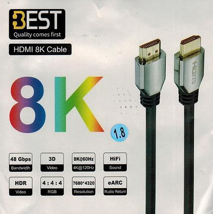 כבל איכותי HDMI 4K 8K 1.8M