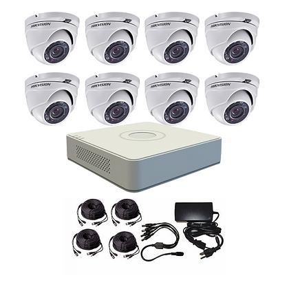 קיט 8 מצלמות אבטחה להתקנה עצמית 2 מגה פיקסל hikvision