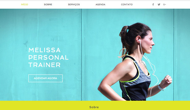 Esportes e Recreação website templates – Personal Trainer