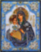 Икона, подарок на крещение ребенка.