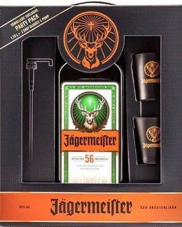Pack Aperitivo Jagermeister 1750ml + 2 Shots