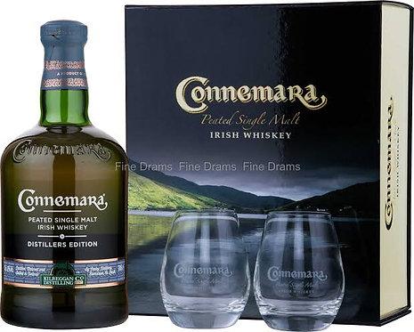 Connemara Distillers Edition + 2 glasses 700ml