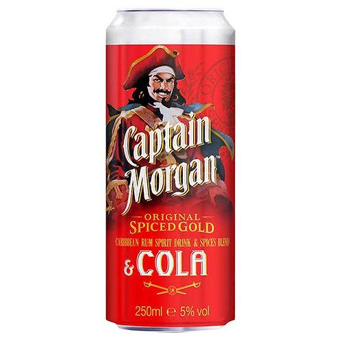 Rum Captain Morgan Spiced & Cola 250ml