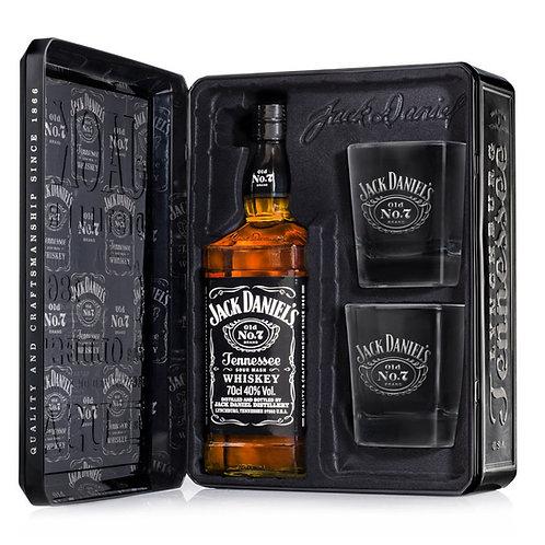 Whisky Jack Daniel's 700ml Metal + 2 copos