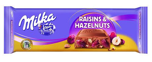 Milka Raisins & Hazenuts 300Gr