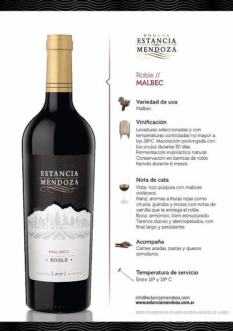 Vinho Estancia Mendoza  Roble Malbec 750ml