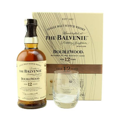 Balvenie 12y Double Wood Giftpack+ Glas