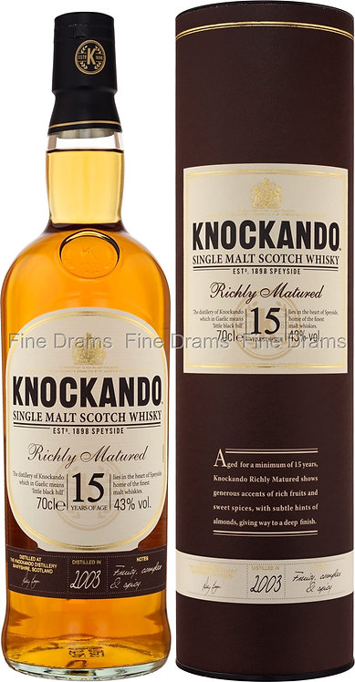 Knockando 15 y Richly Matured 2003 700ml