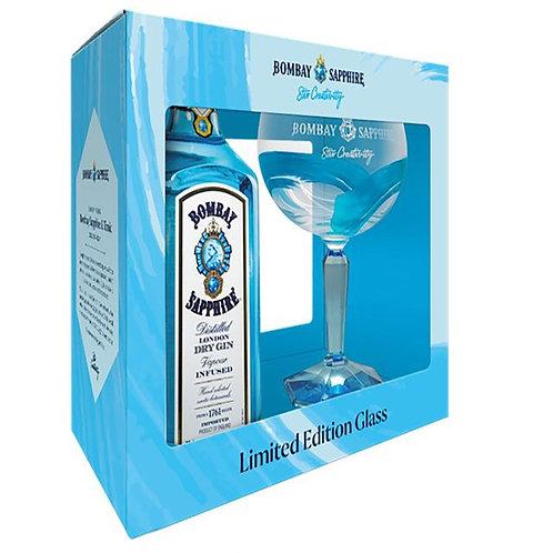 Gin Bombay Sapphire + Glass