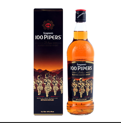 Whisky 100 Pipeers 1Ltc/estojo