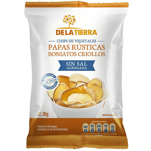 Papas Rústicas Boniatos Criollos S/sal Tierra Fértil 120gr