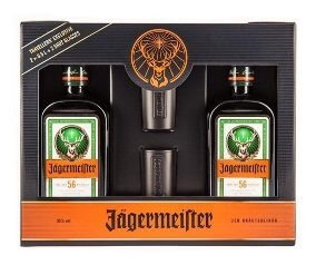 Pack Licor Jagermeister 2 X 500ml + 2 Shots