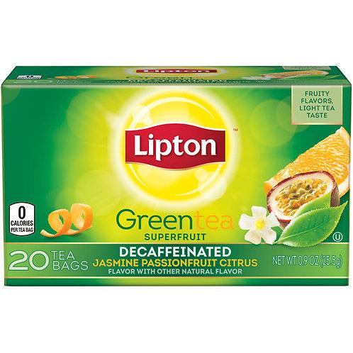 Chá Lipton Greetea Descafeinado Jasmine Cítrus