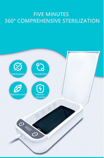 Mobile Phone and mask UVC- LED sterilizer