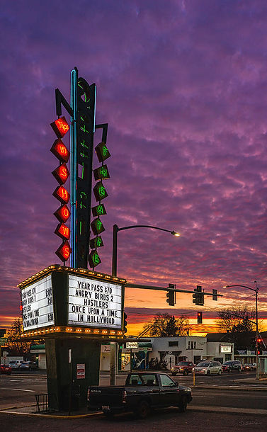 garland-theater-sign-and-dusk-sky-david-