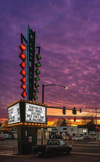 garland-theater-sign-and-dusk-sky-david-