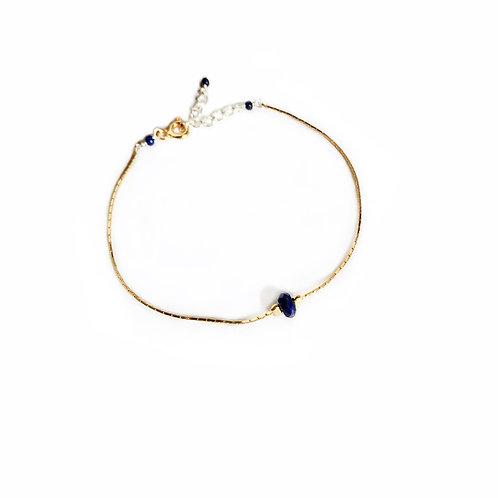 Bracelet en vermeil jaune, argent 925 et lapis-lazuli
