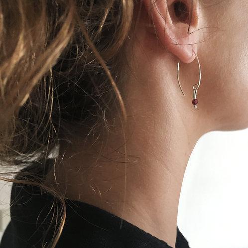 Boucles d'oreilles grenat