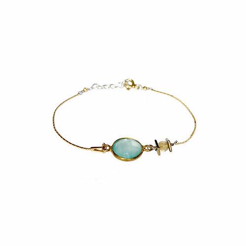 Bracelet Mag en vermeil et pierre fine calcédoine