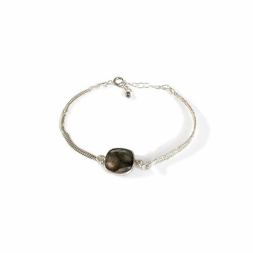 Bracelet Nina en argent et pierre fine labradorite