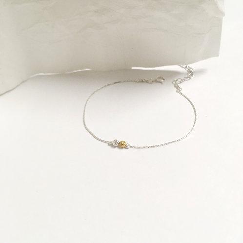 Bracelet deux perles en argent 925