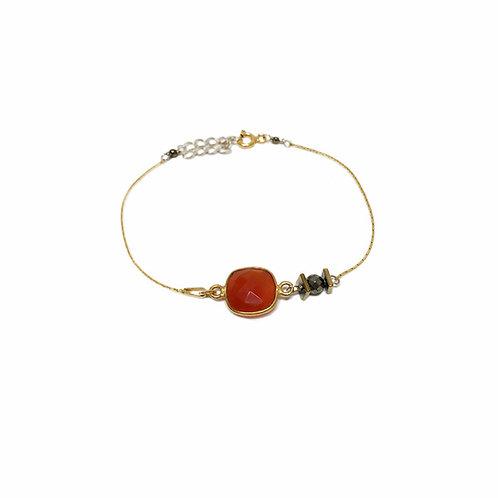 Bracelet Mag en vermeil et pierre fine cornaline