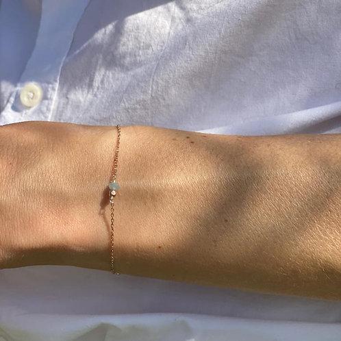 Bracelet en aigue-marine.