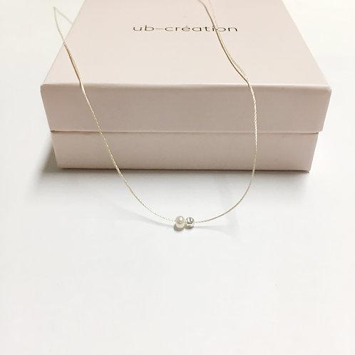 Collier deux perles