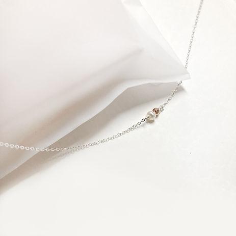 collier argent perle blanche et or 2a.jp