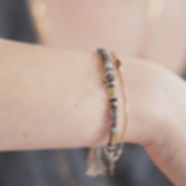Bracelets argent 925, pierres fines.