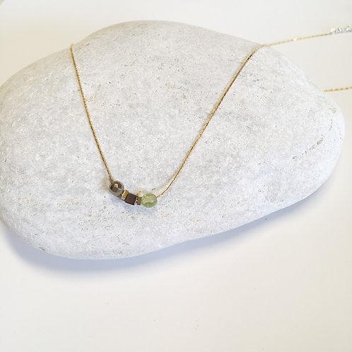 Collier 3 pierres / péridot