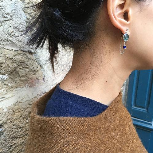 Boucles d'oreilles Elza / bleu