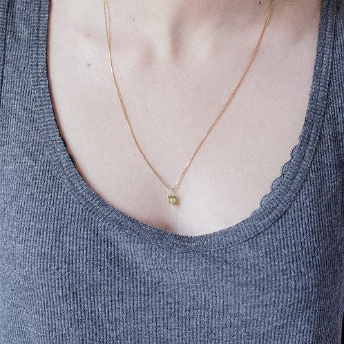 Collier Iris / péridot, argent 925 doré à l'or fin
