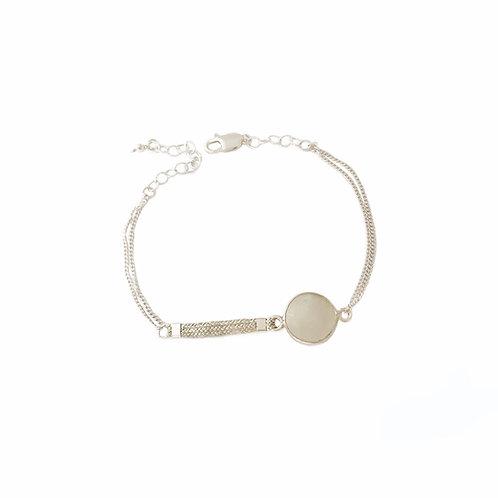 Bracelet Dafne en argent et pierre de lune